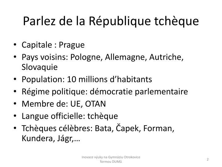 Parlez de la République tchèque