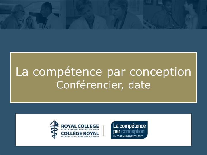 La comp tence par conception conf rencier date