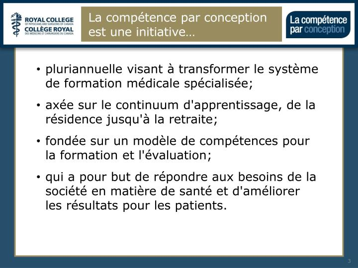 La comp tence par conception est une initiative