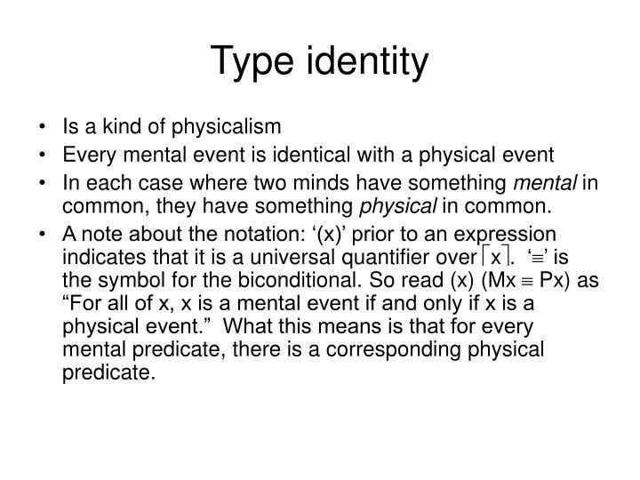 Type identity
