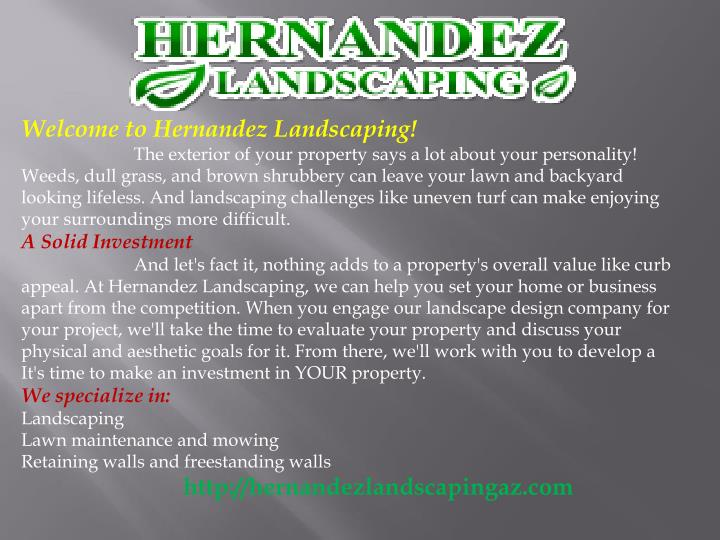 Welcome to Hernandez Landscaping!