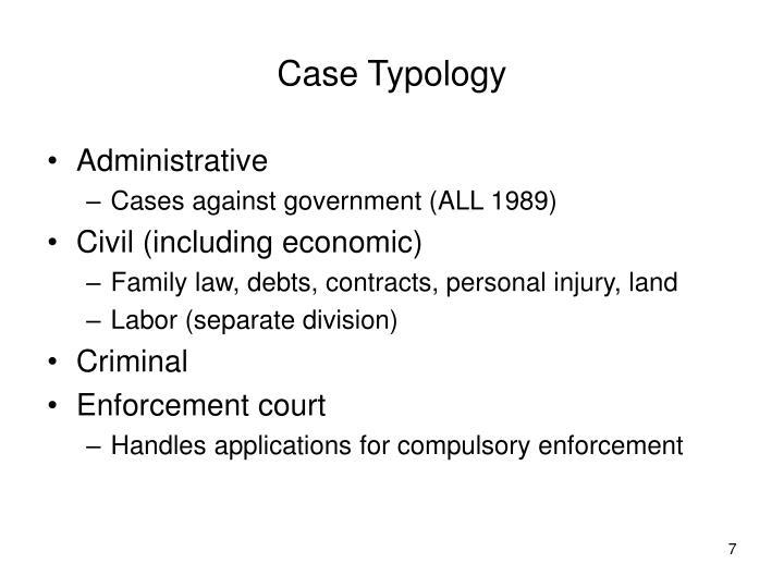 Case Typology
