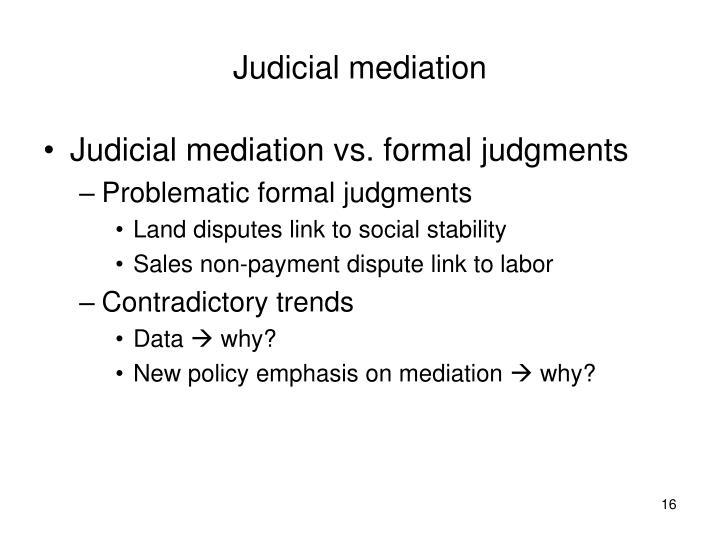 Judicial mediation