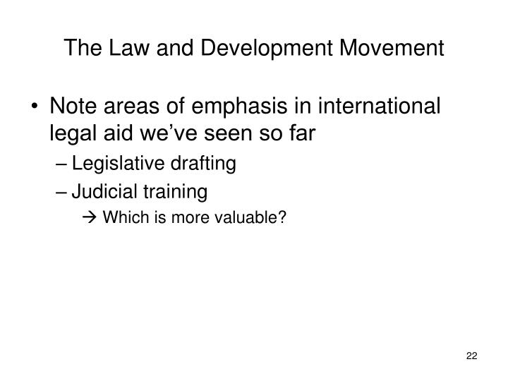 The Law and Development Movement