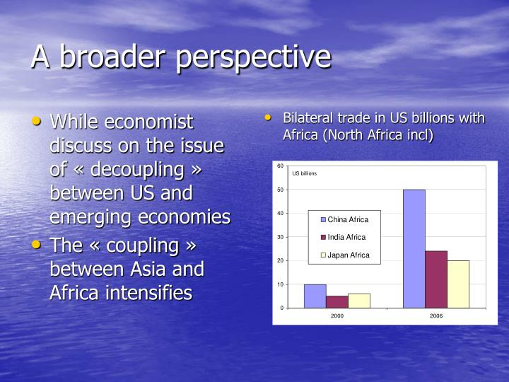 While economist discuss on the issue of « decoupling » between US and emerging economies