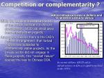 competition or complementarity