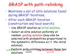 grasp with path relinking
