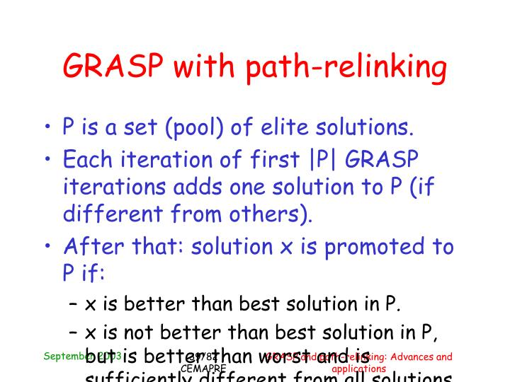 GRASP with path-relinking