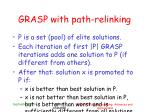 grasp with path relinking6