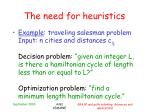 the need for heuristics1