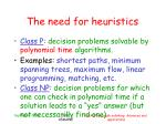 the need for heuristics2