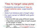 time to target value plots1