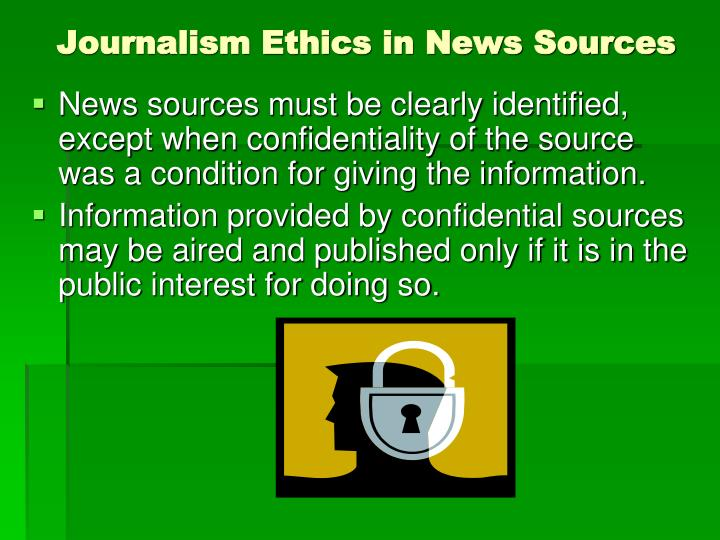 Journalism Ethics in News Sources