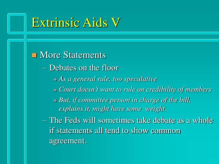 Extrinsic Aids V