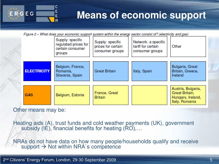 Means of economic support
