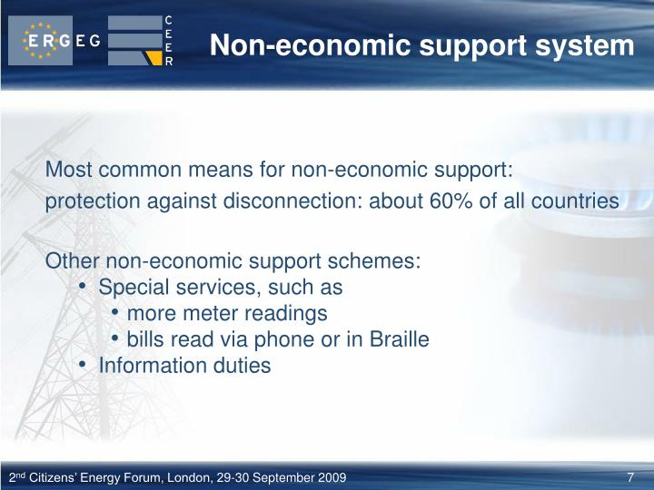 Non-economic support system