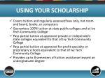 using your scholarship2