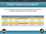 using your scholarship5