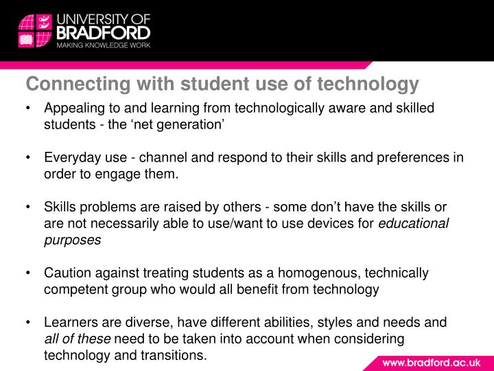 Connecting with student use of technology