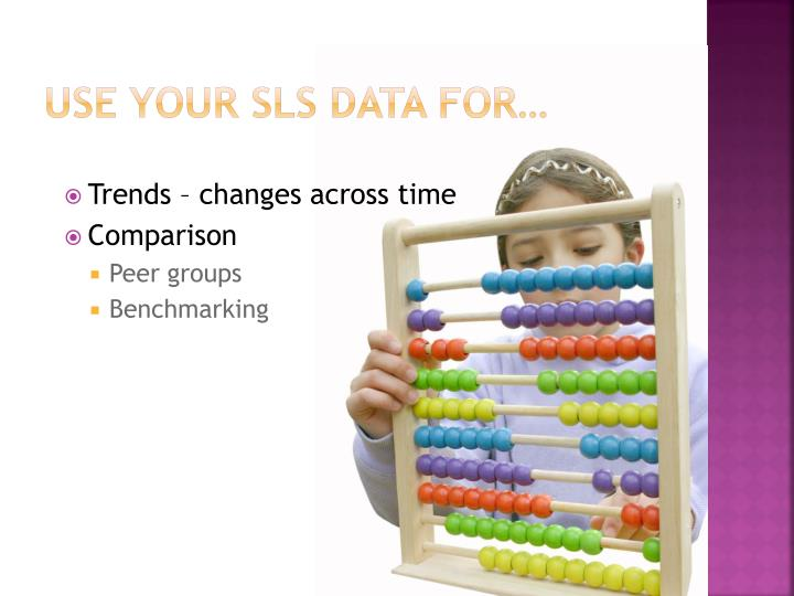 Use your SLS data for…