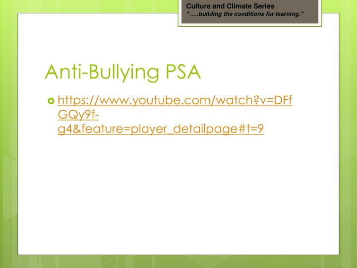 Anti bullying psa