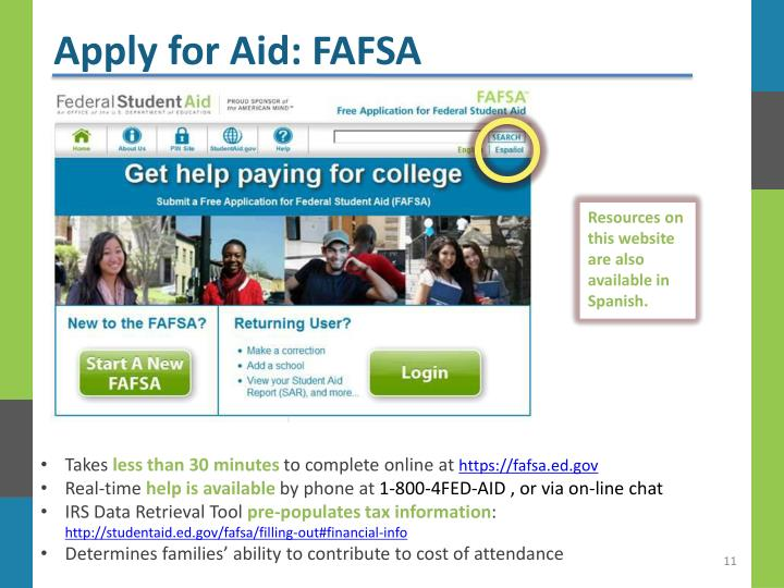 Apply for Aid: FAFSA