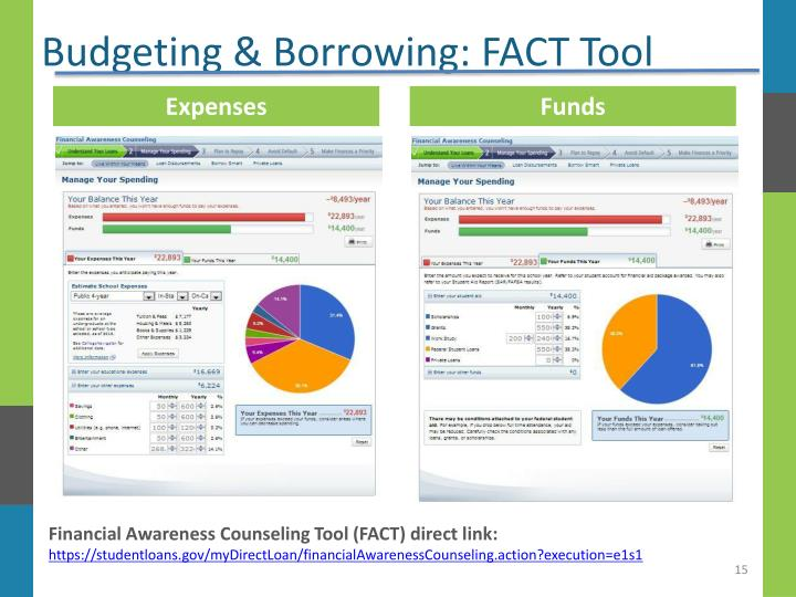 Budgeting & Borrowing: FACT Tool