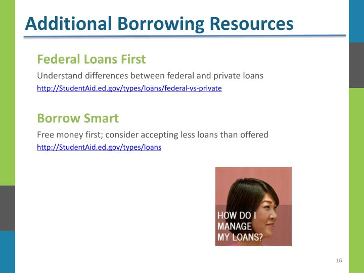 Additional Borrowing Resources
