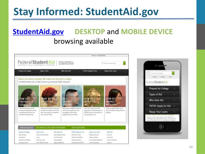 Stay Informed: StudentAid.gov