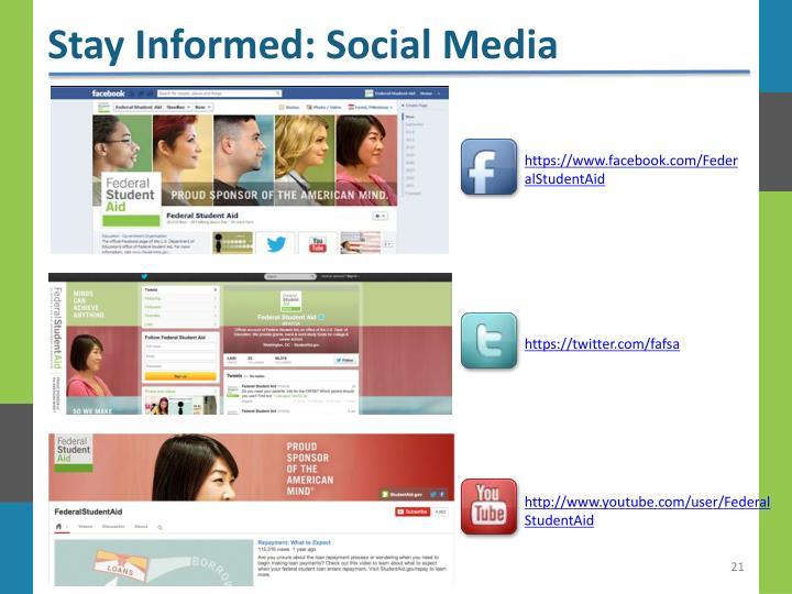 Stay Informed: Social Media
