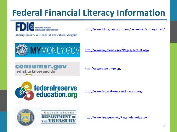 Federal Financial Literacy Information