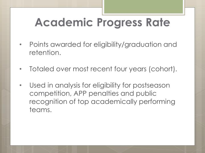 Academic Progress Rate