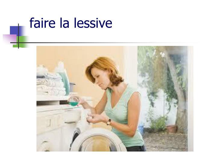 faire la lessive