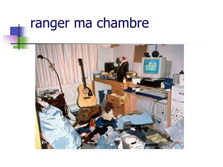 ranger ma chambre