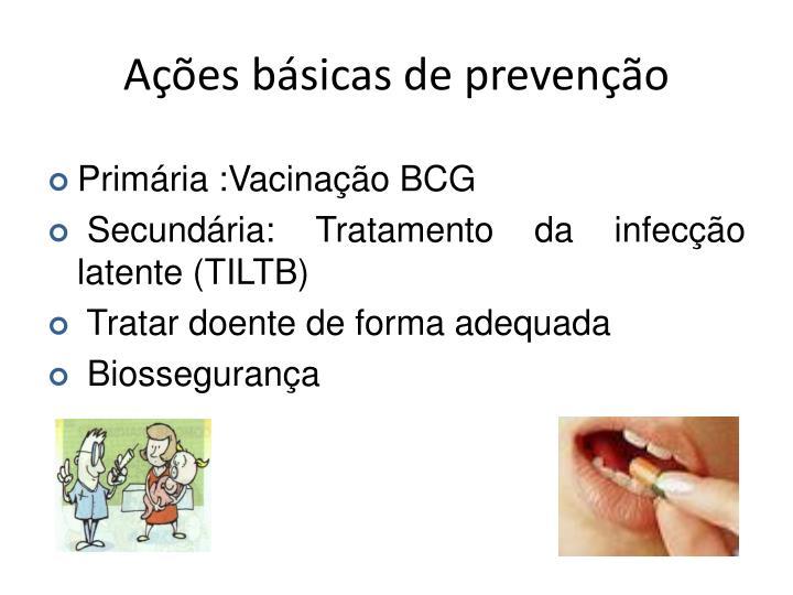 Ações básicas de prevenção