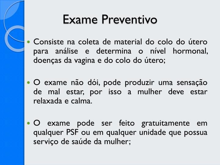 Exame Preventivo