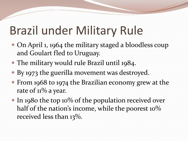 Brazil under Military Rule