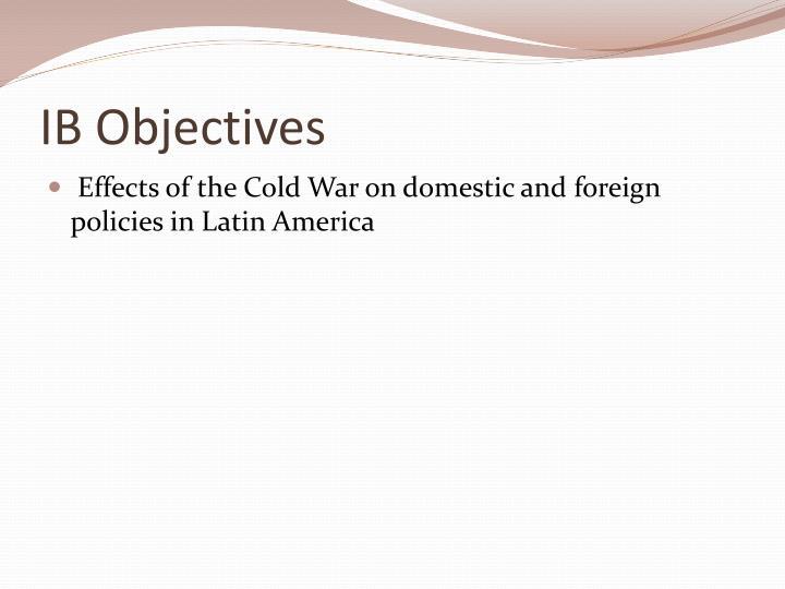 IB Objectives