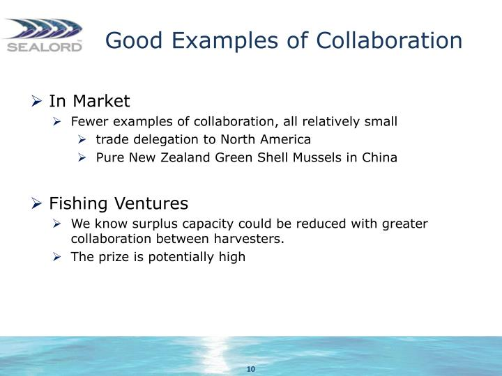 Good Examples of Collaboration