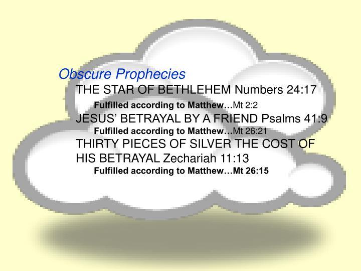 Obscure Prophecies