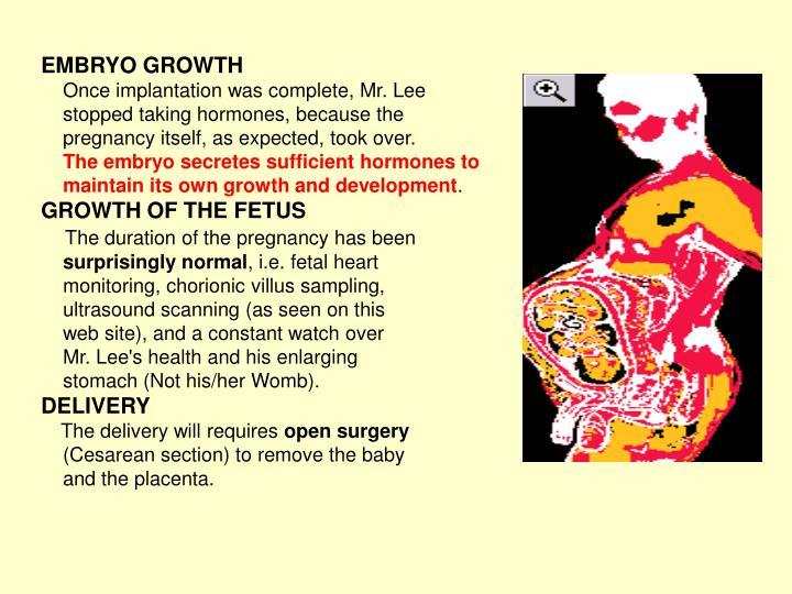 EMBRYO GROWTH
