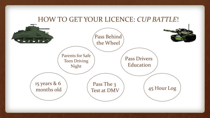 HOW TO GET YOUR LICENCE: