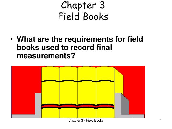 Chapter 3 field books