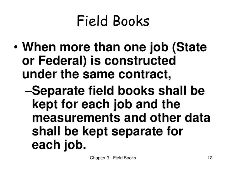 Field Books