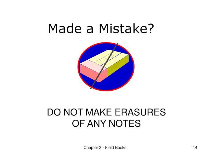 Made a Mistake?