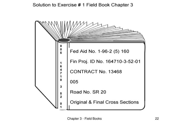 Chapter 3 - Field Books