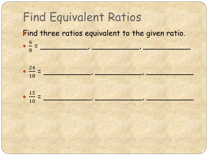 Find Equivalent Ratios