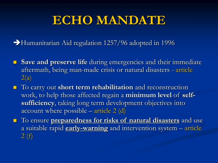 ECHO MANDATE