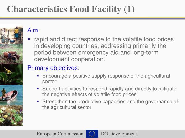 Characteristics Food Facility (1)