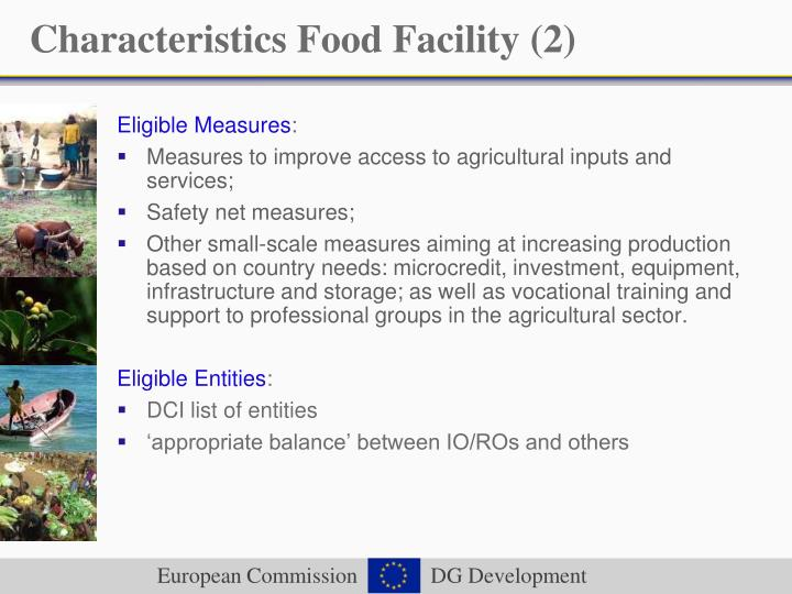 Characteristics Food Facility (2)